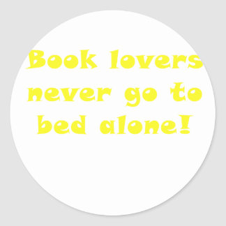 Book Lovers Never Go To Bed Alone Sticker