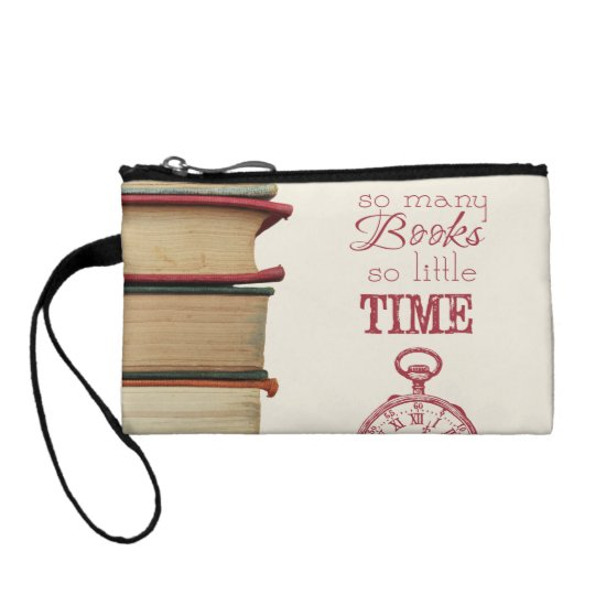 "book lovers wristlet ""So Many Books"""
