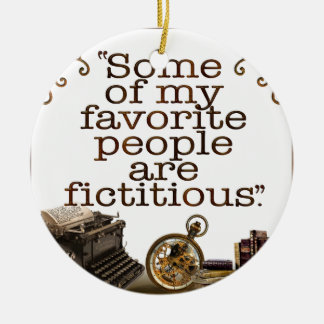 Book Lovers / Writers & Authors Christmas Ornament