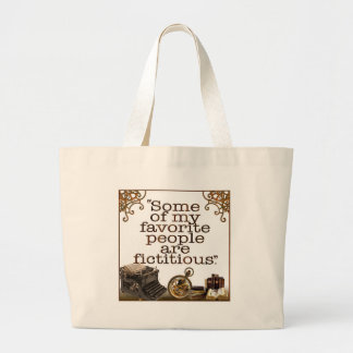 Book Lovers / Writers & Authors Large Tote Bag