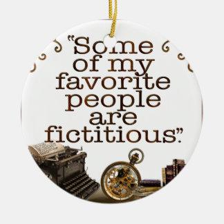 Book Lovers / Writers & Authors Round Ceramic Decoration