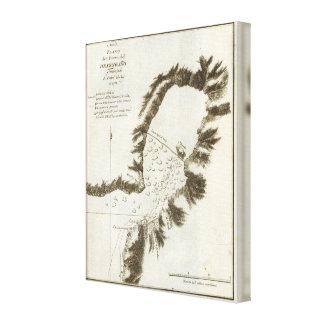 Book Map of Alaska Canvas Print