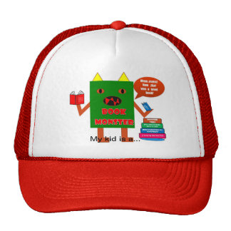 Book monster shirt cap