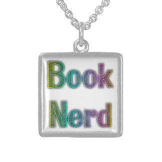 Book Nerd Colors Square Pendant Necklace