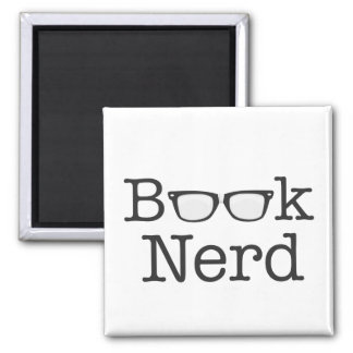 Book Nerd Funny Spectacles Text Square Magnet