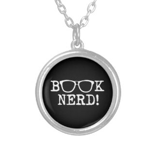 Book Nerd Round Pendant Necklace