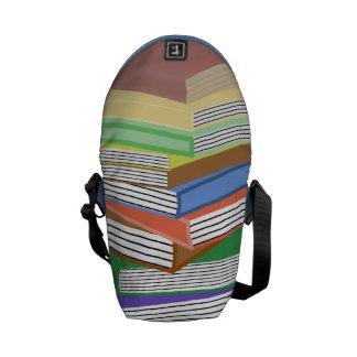 Book Nerd Stack Messenger Bag