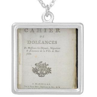 Book of Complaints' Square Pendant Necklace