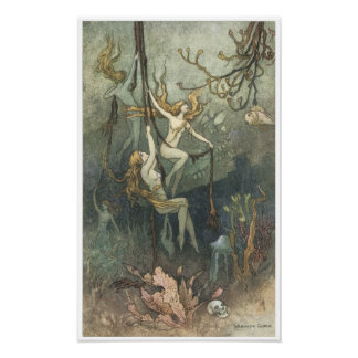 Book of Fairy Poetry, Sea-nymphs Poster