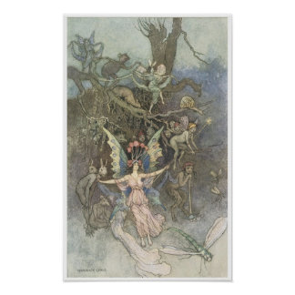 Book of Fairy Poetry, Victorian Era Fairy Painting Posters