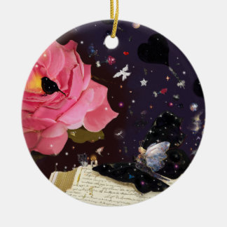 Book of fairy tales christmas ornament