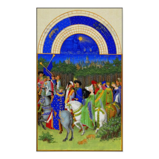 Book of Hours for May LimbourgMay Poster