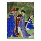 Book of hours mediaeval ladies & lords version 2 card