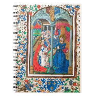 Book of Hours SR001 #1 Illuminated Manuscript Art Spiral Notebooks