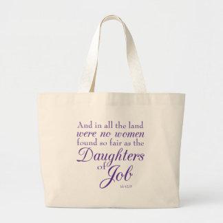 Book of Job Bible Verse Jumbo Tote Bag