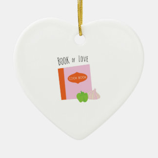 Book Of Love Ceramic Heart Decoration