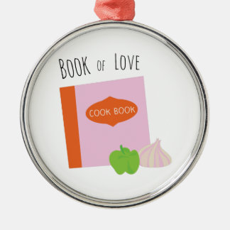 Book Of Love Silver-Colored Round Decoration
