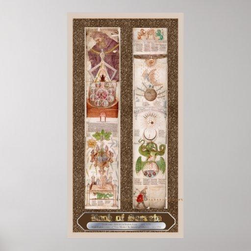 "Book of Secrets ""Visio Mystica"" Alchemy Poster"