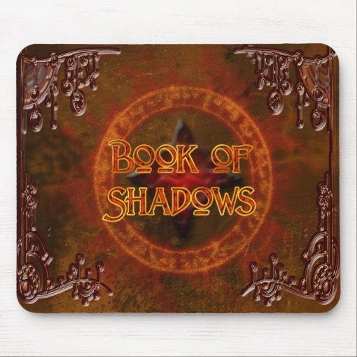 Book of Shadows Rustic Mousepad