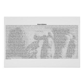 Book of Song of Solomon (complete KJV text) Poster