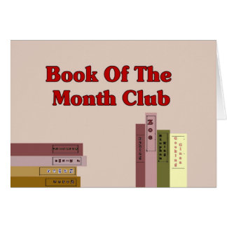 Book Of The Month Club Greeting Card