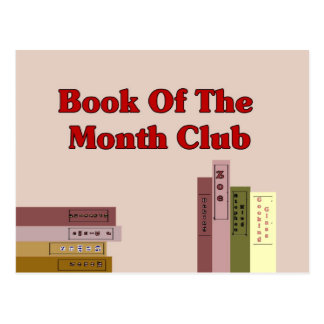 Book Of The Month Club Postcard