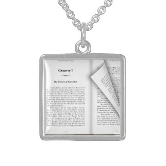 book pages necklace
