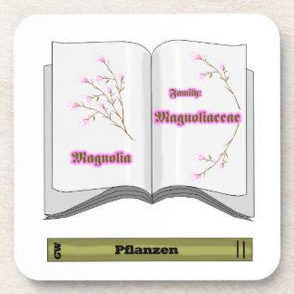 book plant magnolien coaster