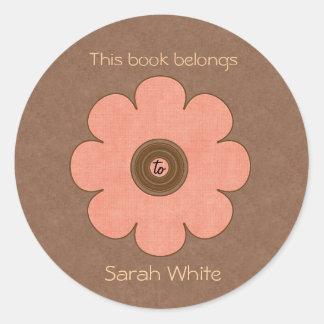 Book Plate Round Sticker