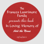 Book Plate Sticker