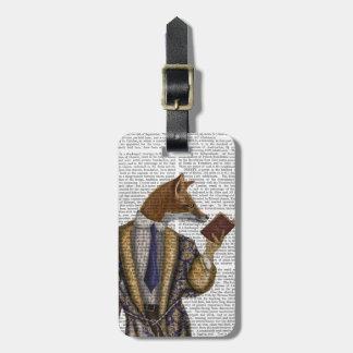 Book Reader Fox Bag Tag