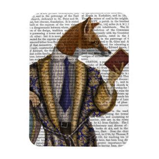 Book Reader Fox Rectangular Photo Magnet