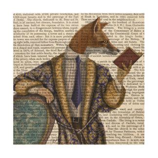 Book Reader Fox Wood Wall Art