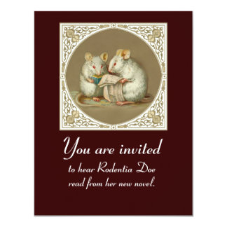 Book Reading Customizable 11 Cm X 14 Cm Invitation Card