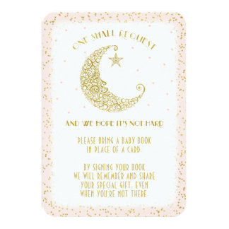 Book Request Twinkle Little Star Baby Shower Card