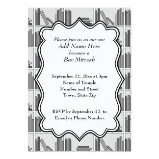 Book Shelf Design Bar Mitzvah Card