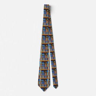 Book Shelves of Books Academic Reading Geeks Tie