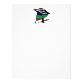"""Book Stack """"CONGRATS TO THE GRAD"""" Diploma 21.5 Cm X 28 Cm Flyer"""