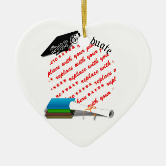 Book Stack Graduation Our Graduate Frame Christmas Ornaments