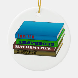 Book Stack Only Christmas Ornament
