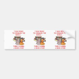 book store bumper stickers