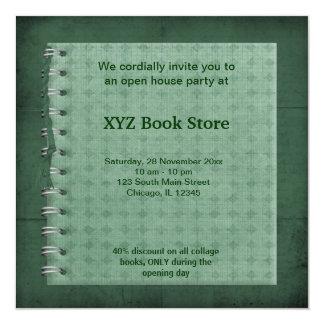Book Store celebration 13 Cm X 13 Cm Square Invitation Card