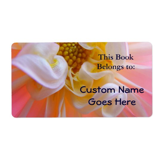 Book Tags Floral Book Labels Book Belongs to
