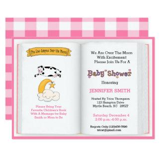 Book Theme Baby Shower Invitation (Girl)