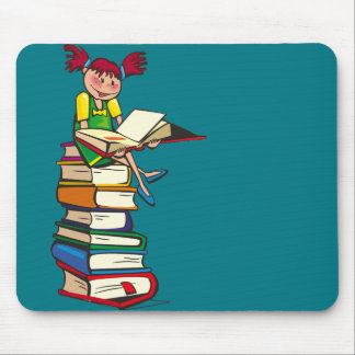Book Tower Mouse Pad