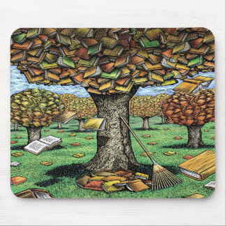 Book Tree Mousepad