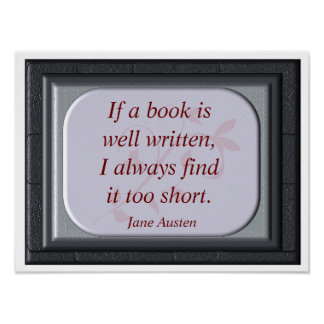 Book well written - Jane Austen - art print