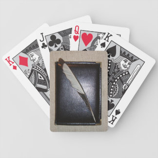 Book wild duck feather bicycle playing cards