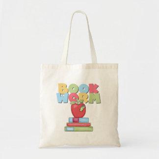 Book Worm Canvas Bag