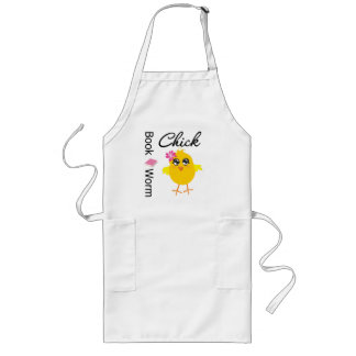 Book Worm Chick Long Apron